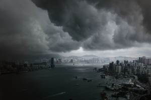 HONG KONG-WEATHER-STORM  PL01