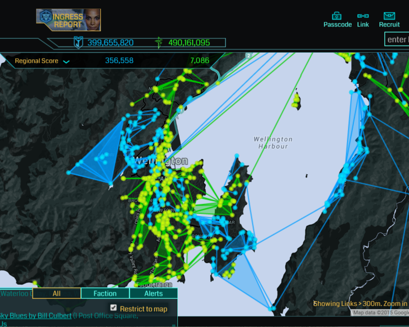 Wellington Region Ingress Map